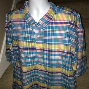 *Polo by Ralph Lauren* plaid s/s men's shirt - 5XB
